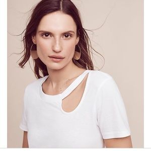 Anthropologie Lennon cutout top